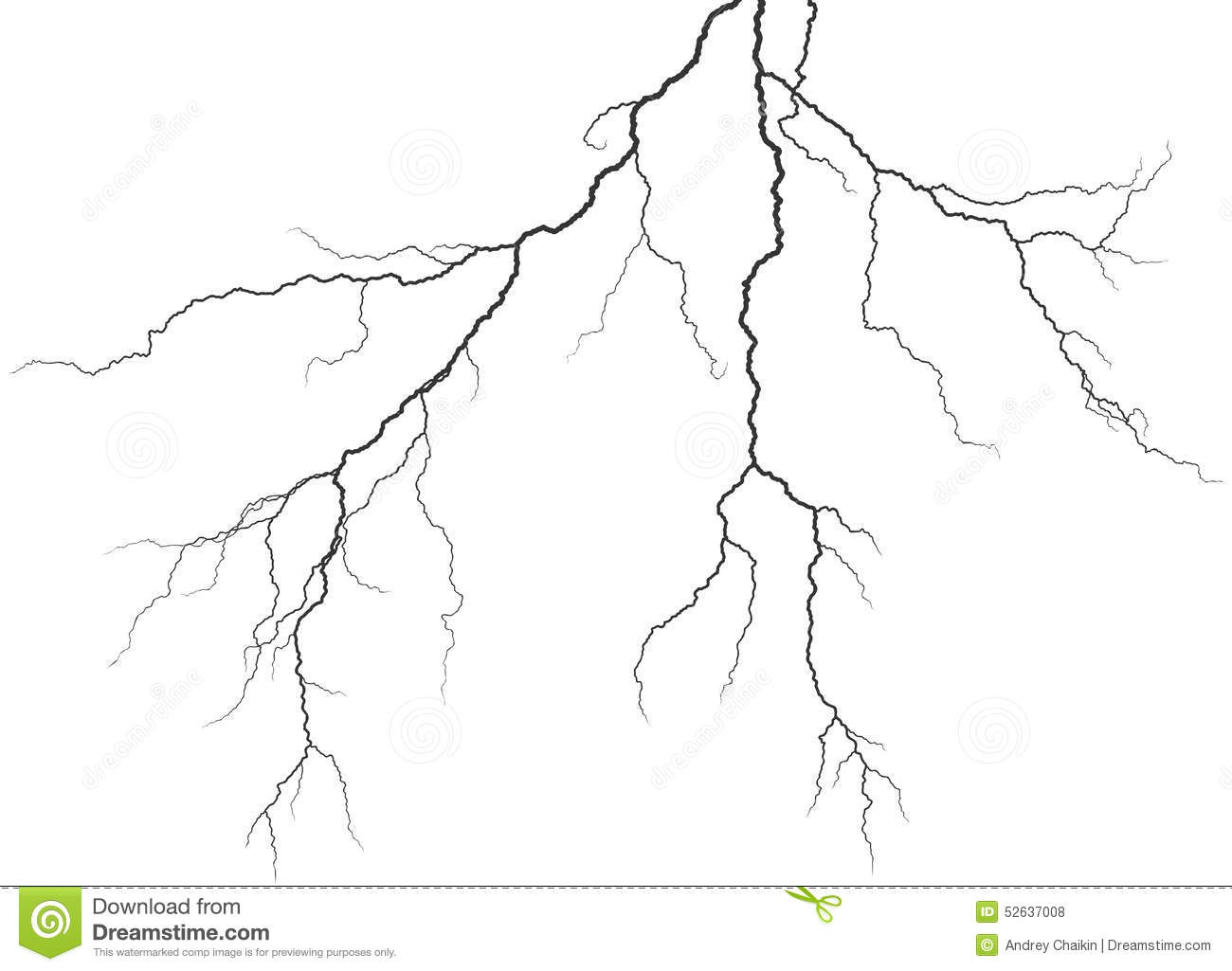 how to draw a lightning storm