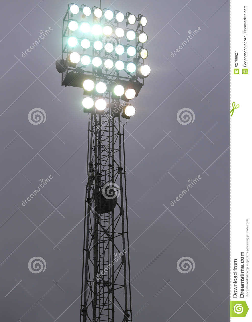 lights on at night during the show in the stadium stock photo