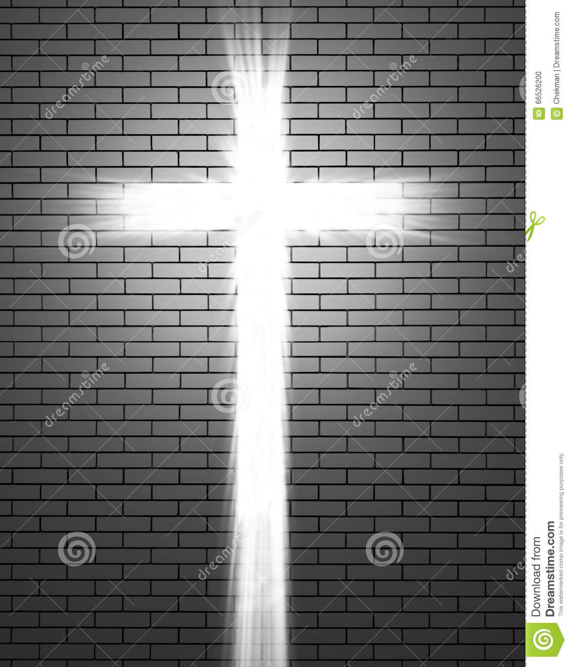 Lights in the shape of a Christian cross