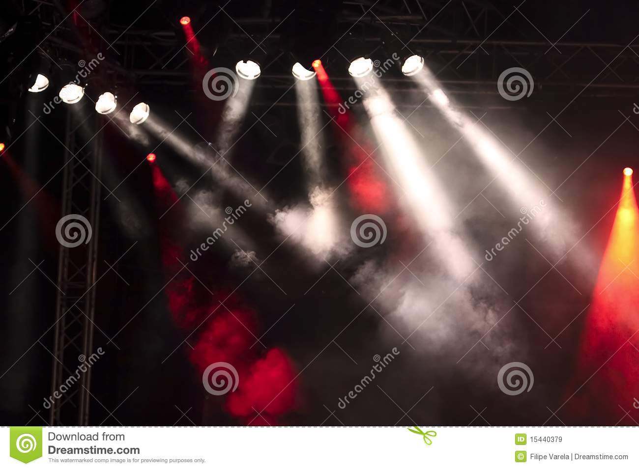 Lights on a stage