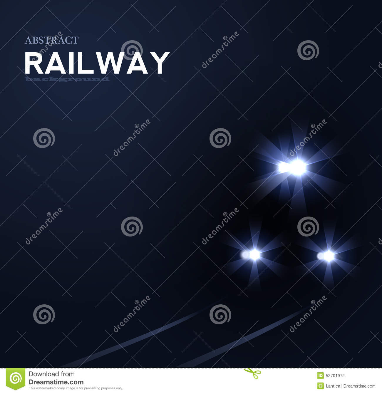 Lights of train, vector abstract background