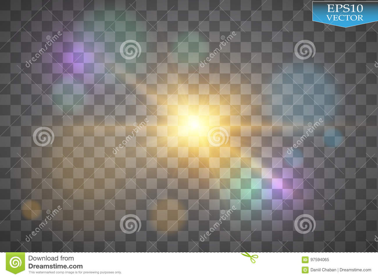 Lights on transparent background. Vector white glitter wave abstract illustration. White star dust trail sparkling