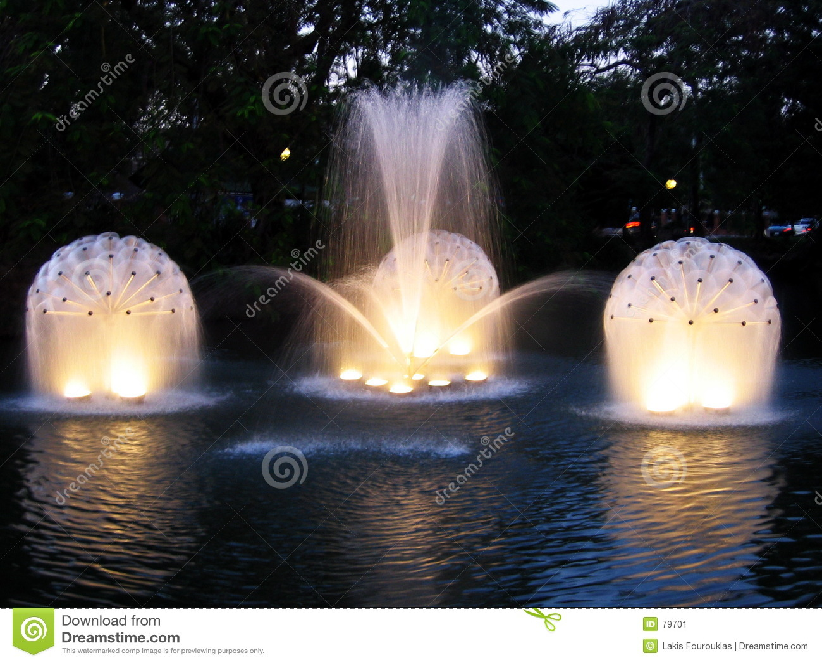 Lights water