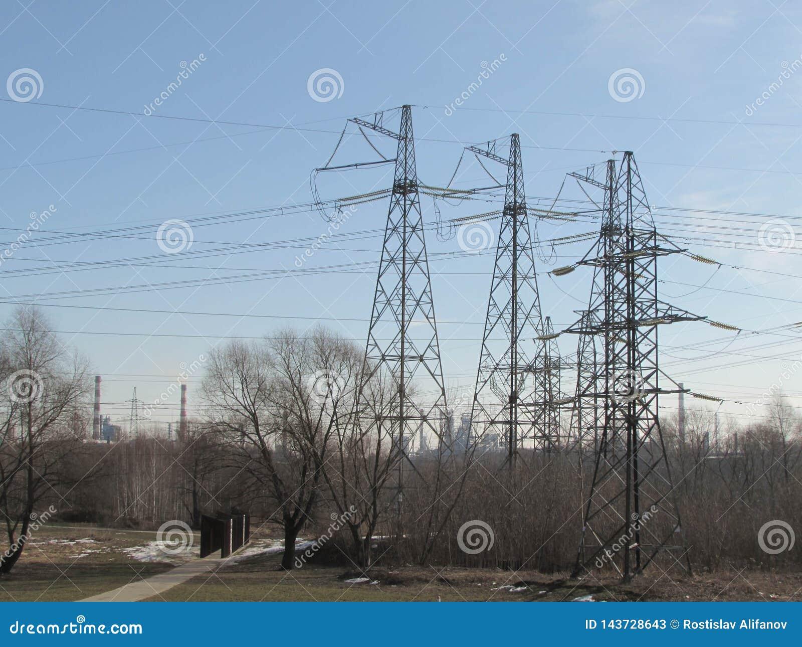 Ligne électrique à Moscou