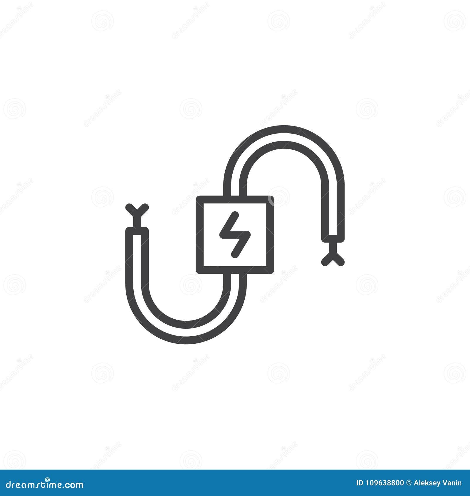 Ligne électrique icône de câble