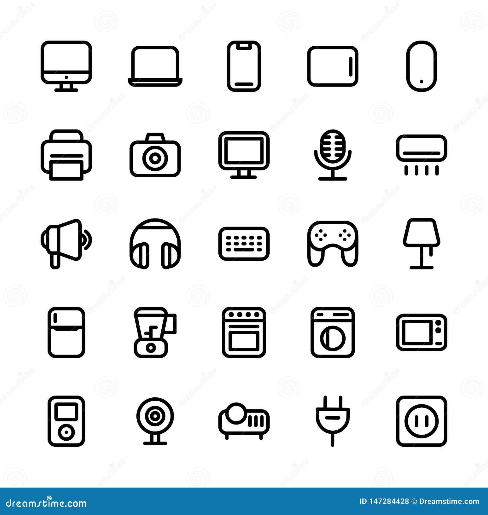 Ligne électronique icône