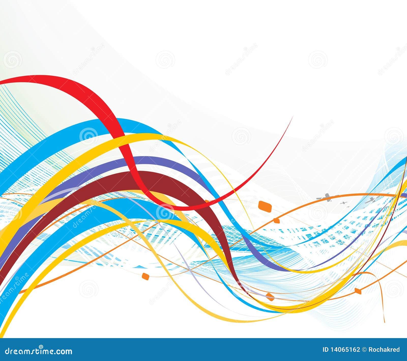 Ligne abstraite d 39 onde d 39 arc en ciel photographie stock - Photographie d art en ligne ...
