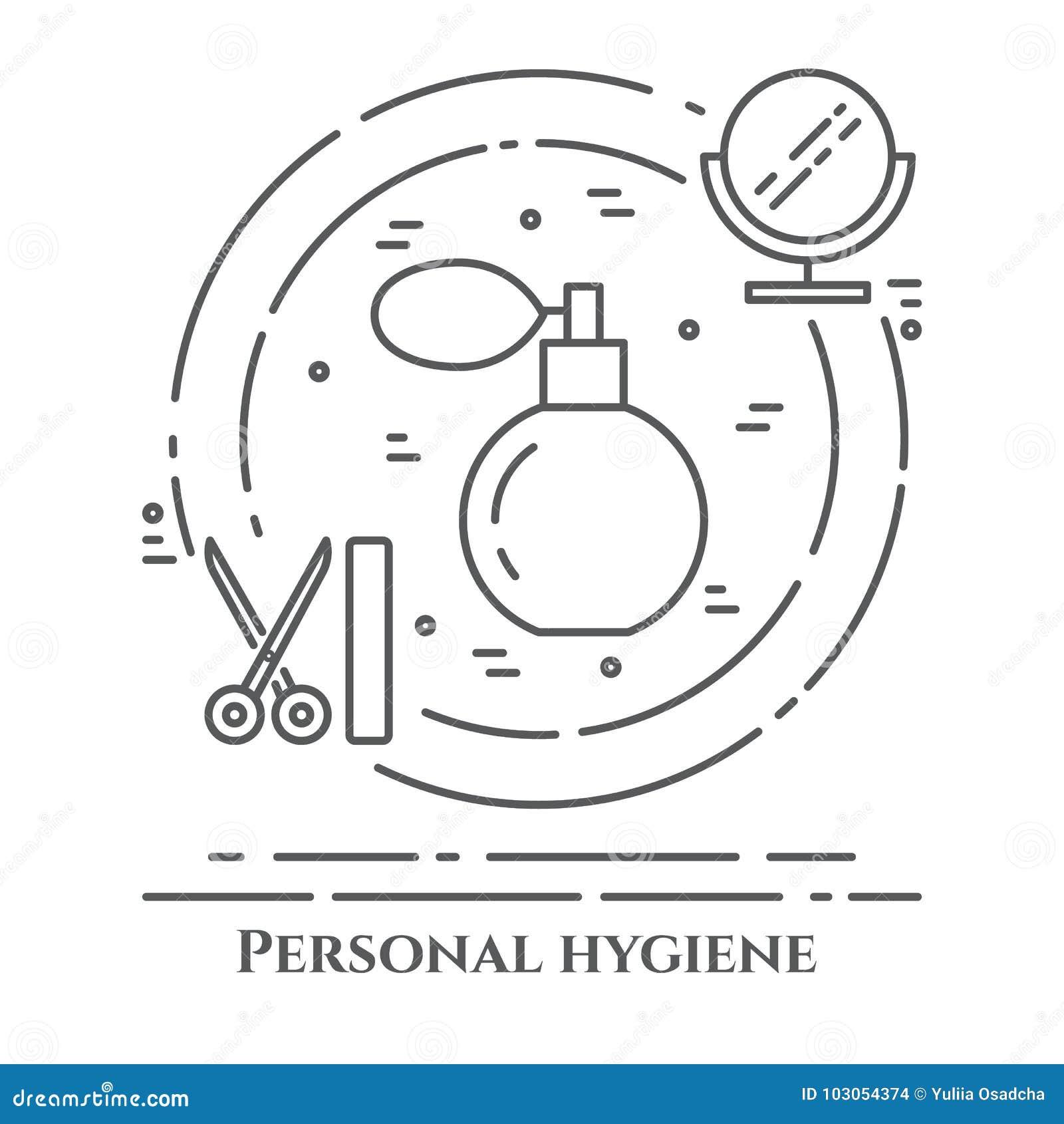 Affiche Salle De Bain ~ ligne banni re d hygi ne personnelle ensemble d l ments de douche