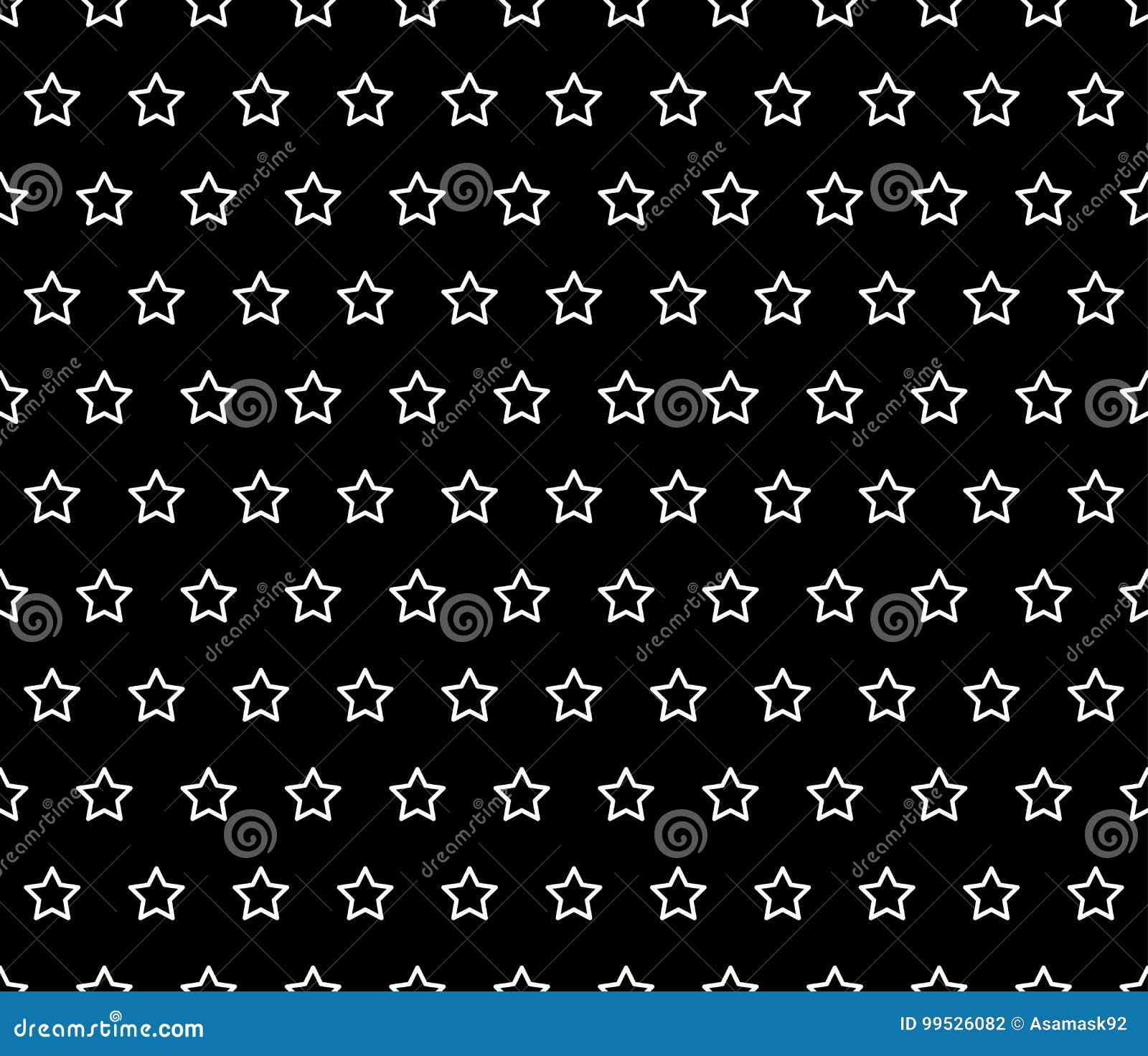 Ligne Blanche Détoile Sur Le Fond Noir Illustration De