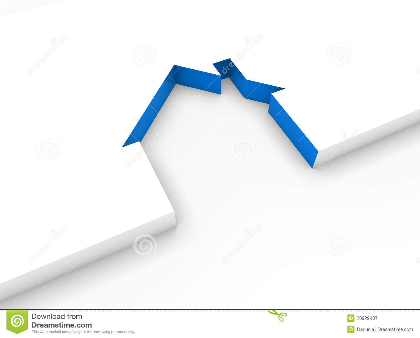 Ligne bleu de la maison 3d illustration stock for Tout pour la maison en ligne