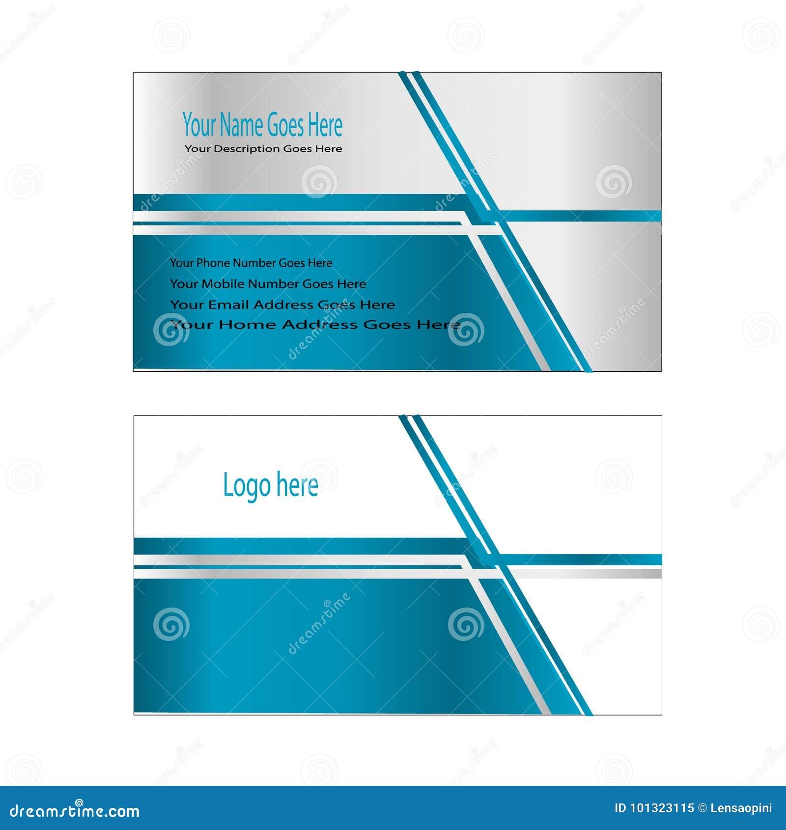 Ligne Bleue Editable Facile De Carte Visite Professionnelle