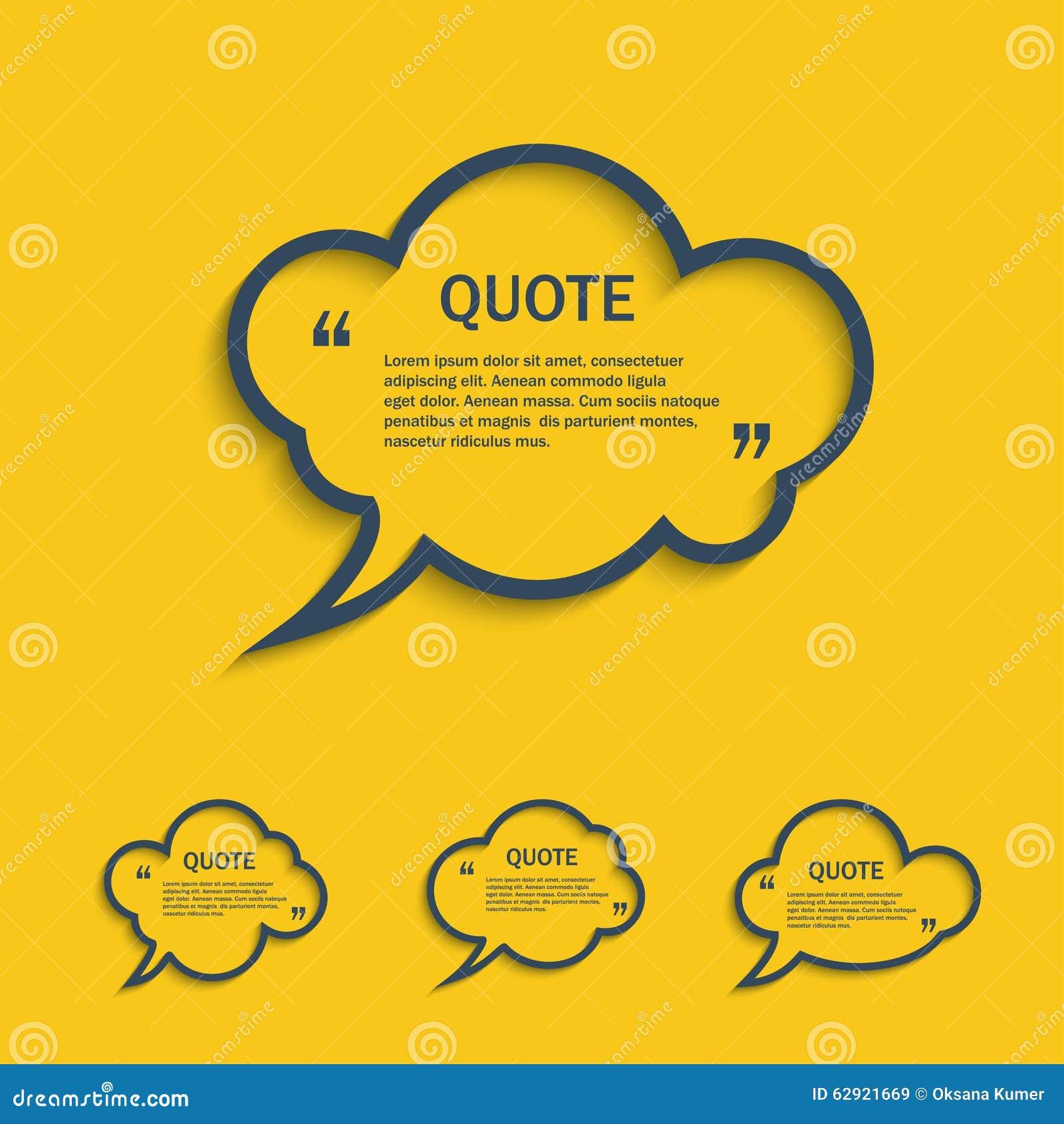 Ligne bulles de citation de la parole de nuage réglées
