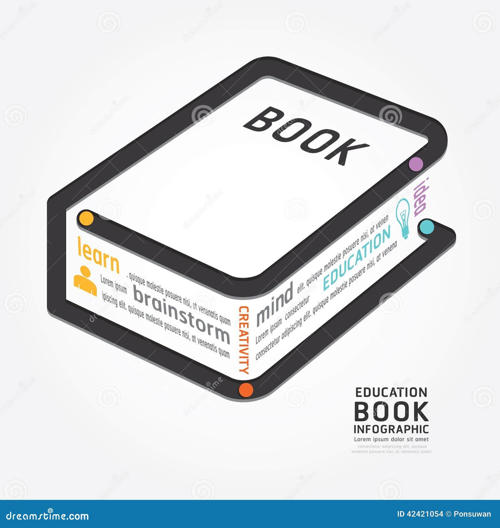 Ligne chronologie de diagramme de conception de livre de vecteur d Infographics de style