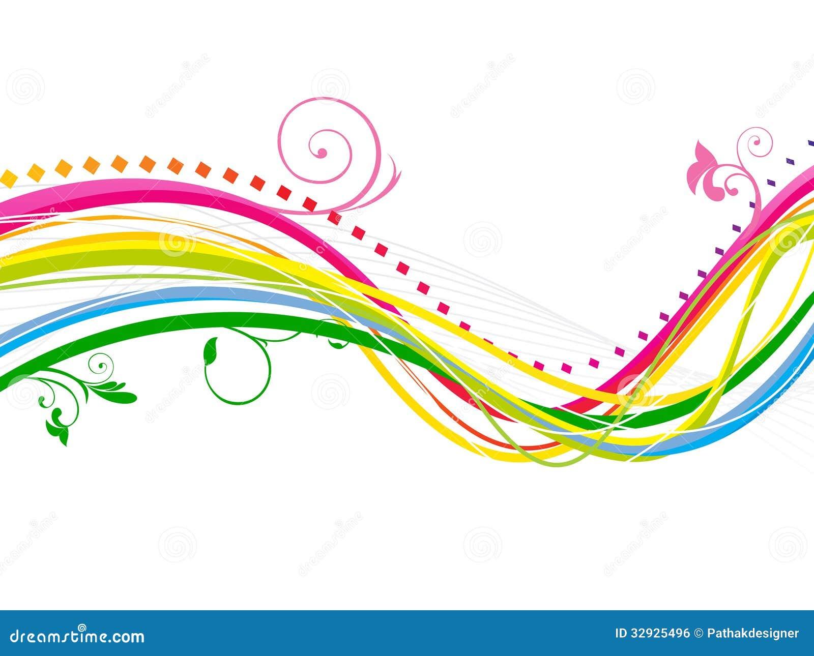 Ligne color e abstraite fond d 39 arc en ciel de vague - Image arc en ciel gratuite ...