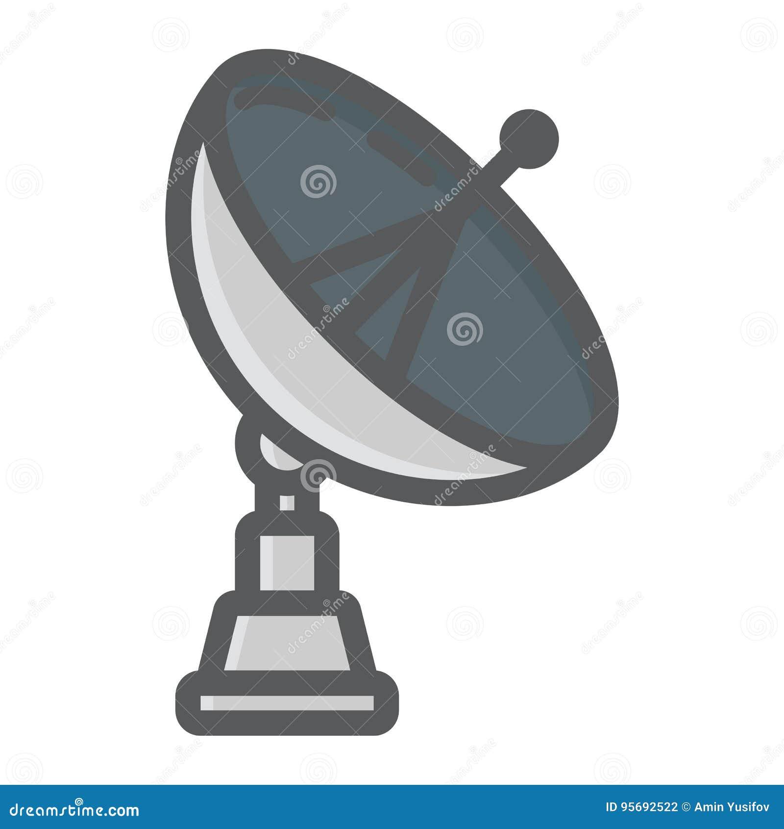 ligne colorée icône, antenne d'antenne parabolique illustration de