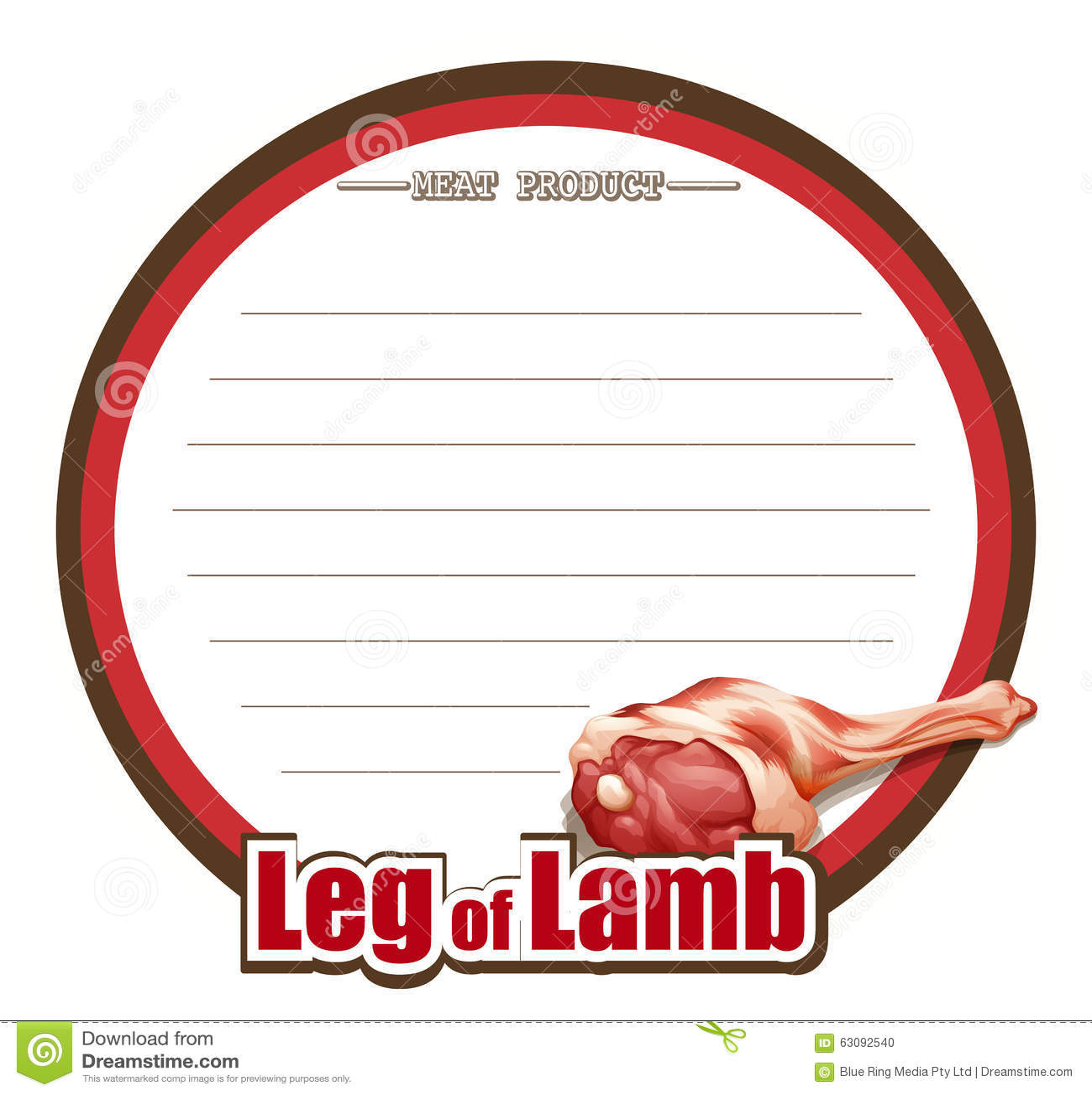 Download Ligne Conception De Papier Avec La Jambe De L'agneau Illustration de Vecteur - Illustration du conception, papier: 63092540