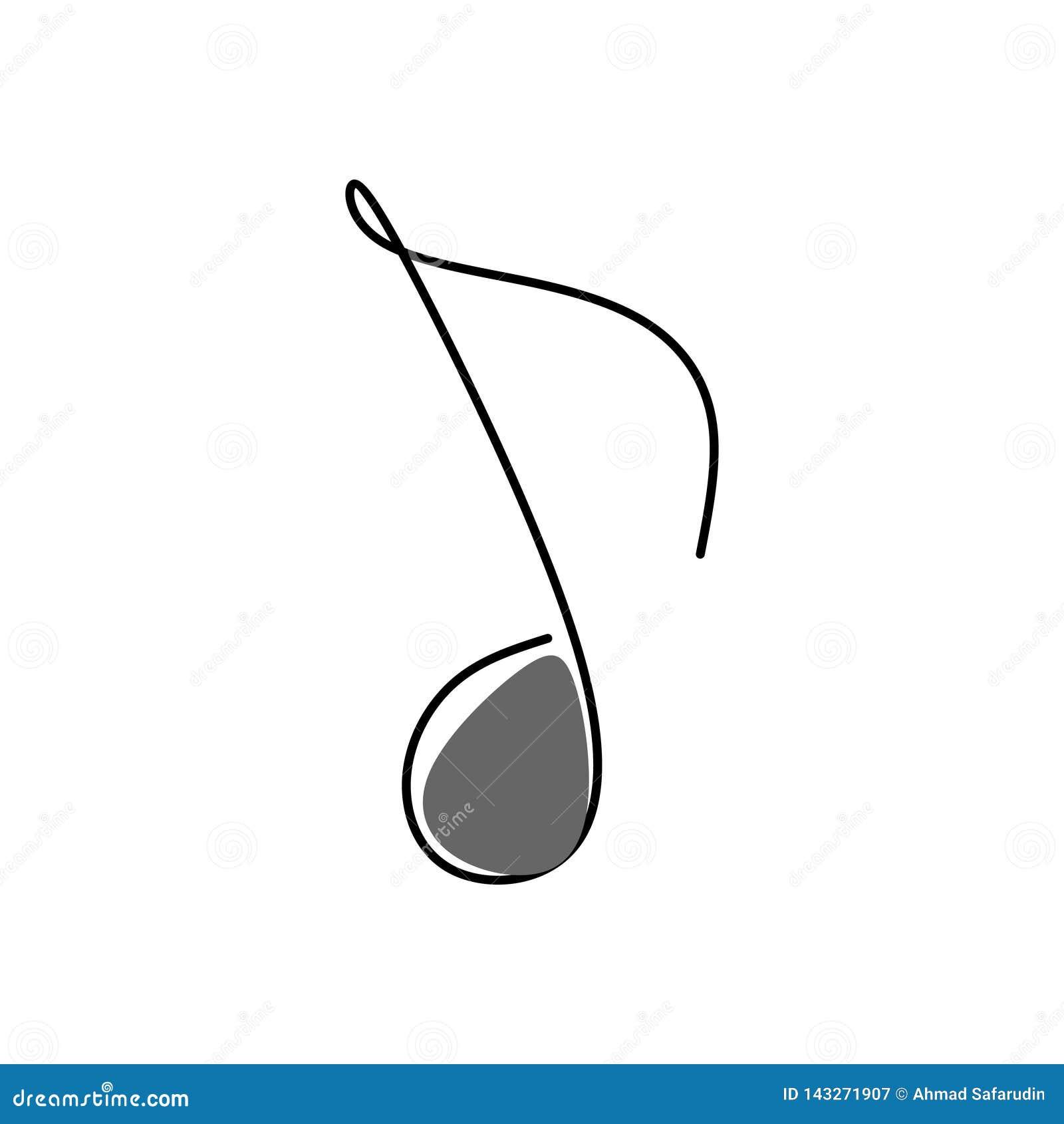 Ligne Continue Musique De Note D Images Illustration De Vecteur