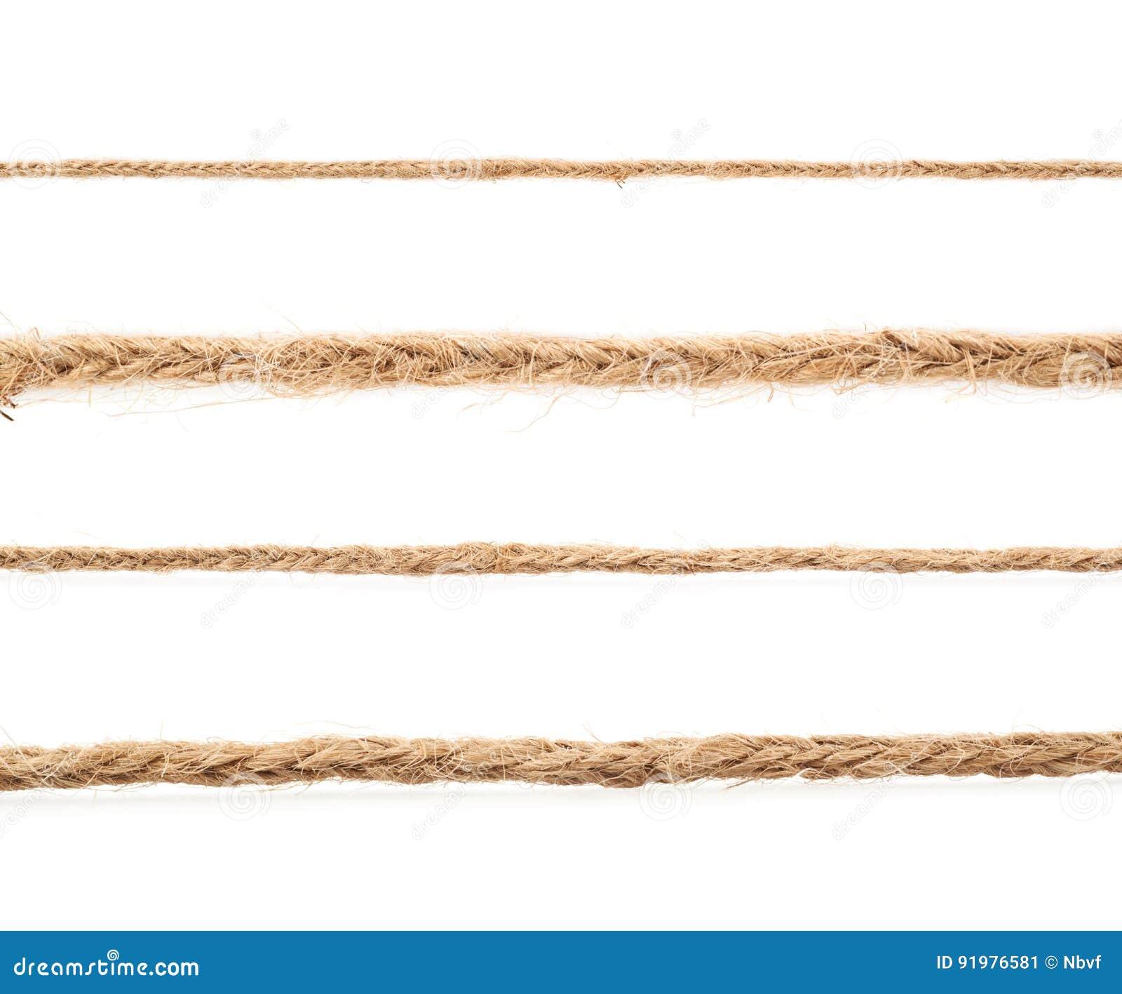 Ligne d une ficelle de toile de corde