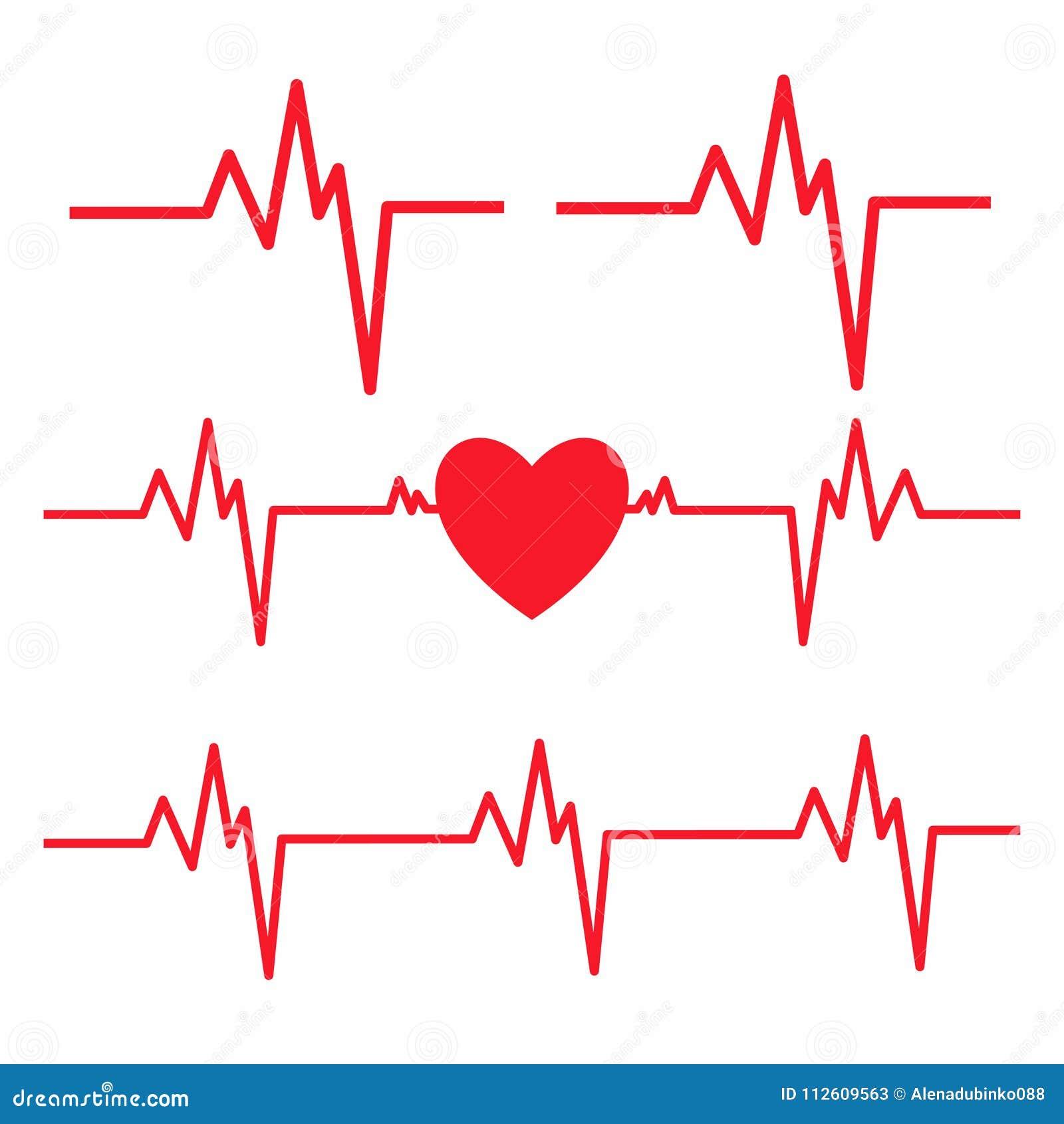 ligne de battement de coeur d 39 isolement sur le fond blanc ic ne de cardiogramme de coeur. Black Bedroom Furniture Sets. Home Design Ideas