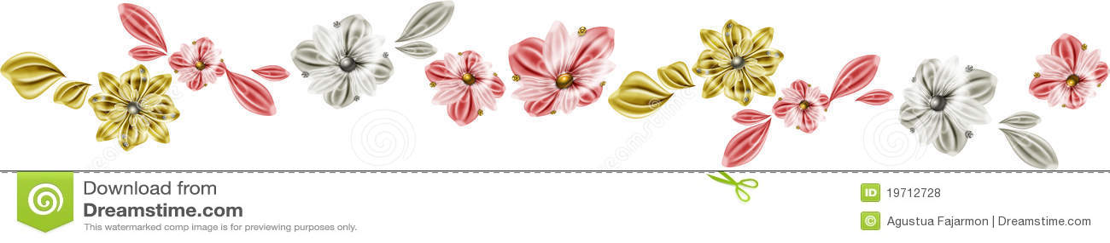 ligne de fleurs photos libres de droits image 19712728. Black Bedroom Furniture Sets. Home Design Ideas