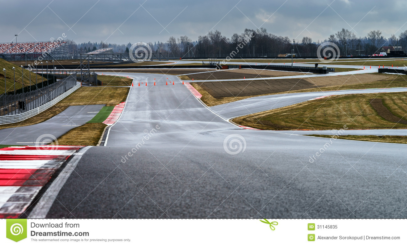 Ligne de voie de manière de course