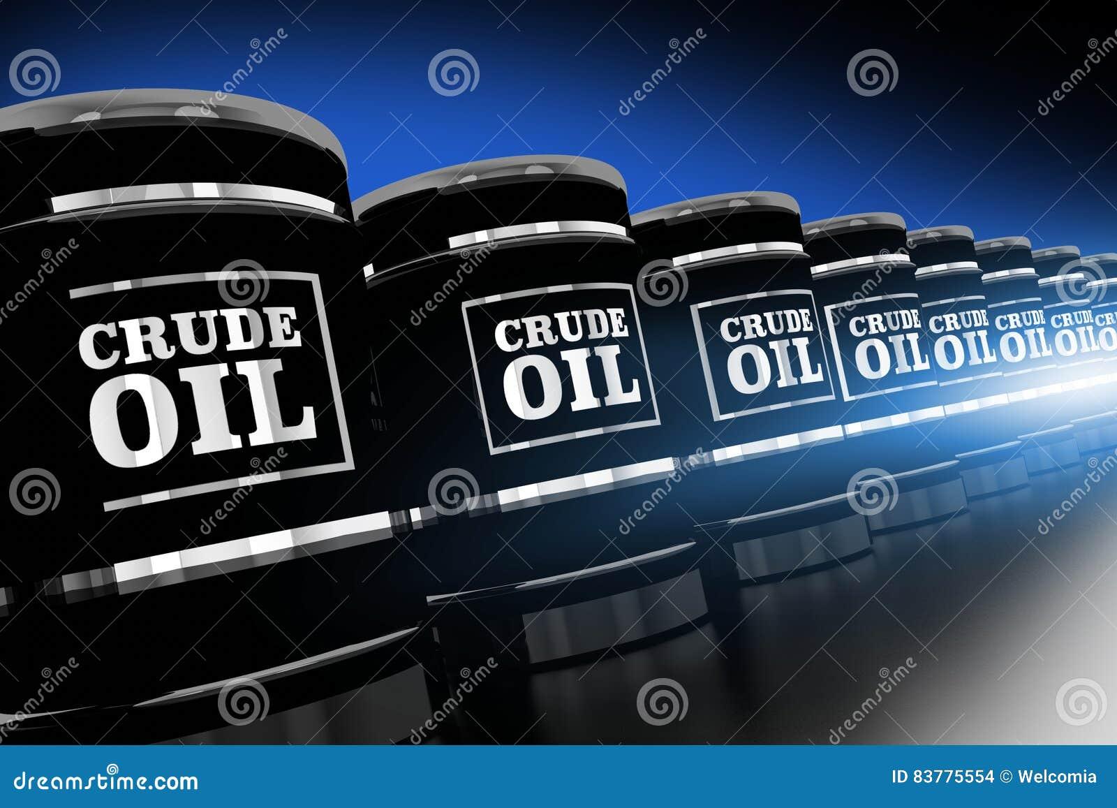 Ligne des barils de pétrole brut