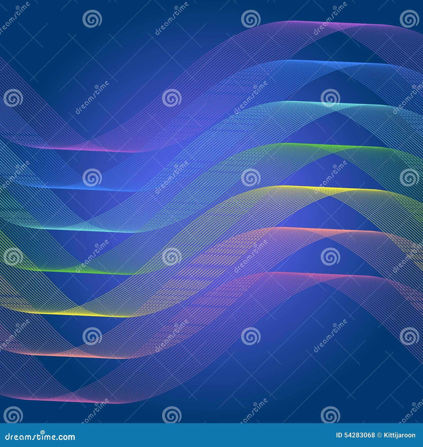 ligne fond de courbe de spectre de r u00e9sum u00e9 illustration de vecteur