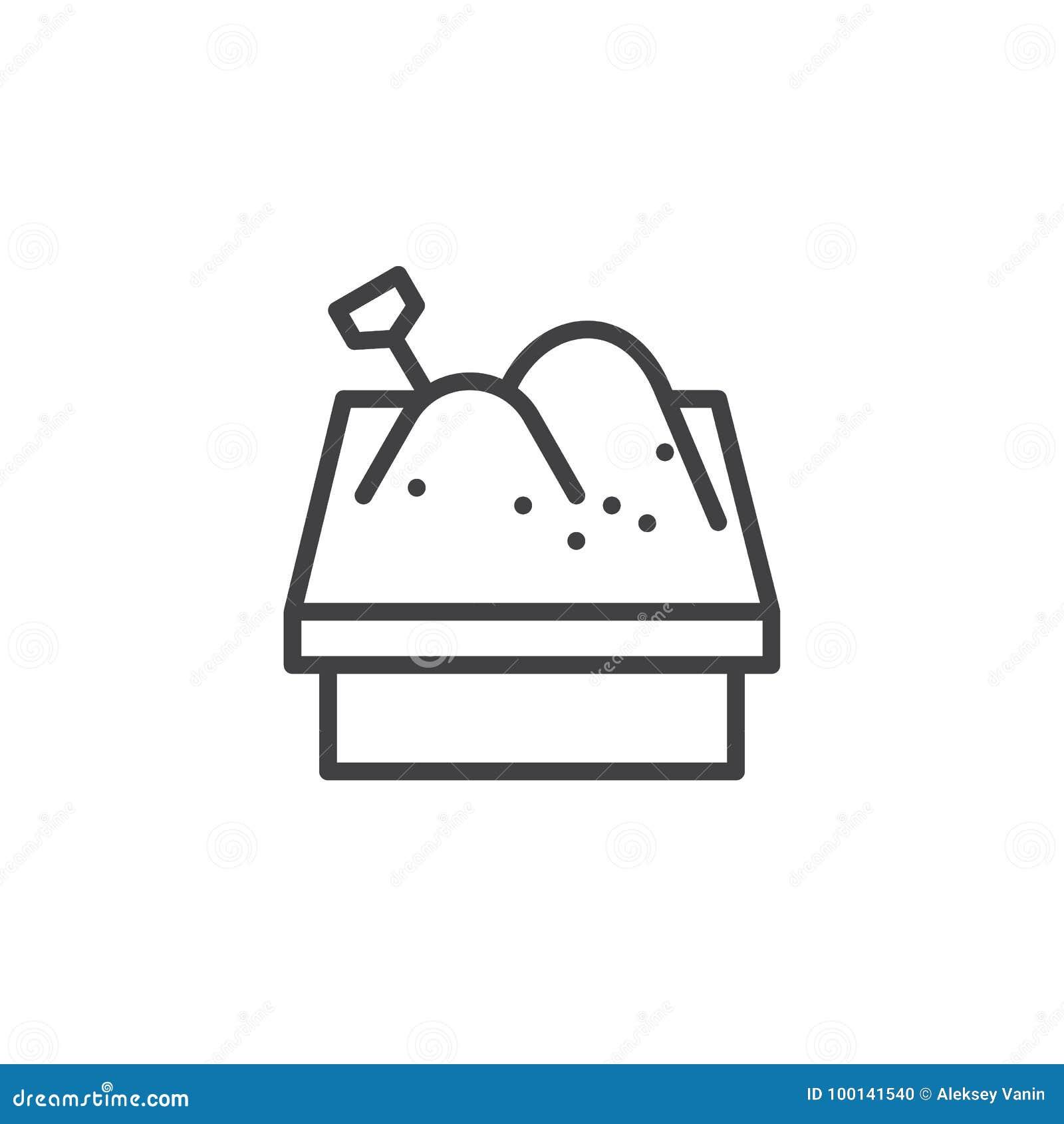 ligne ic ne de bac sable illustration de vecteur illustration du pelle 100141540. Black Bedroom Furniture Sets. Home Design Ideas