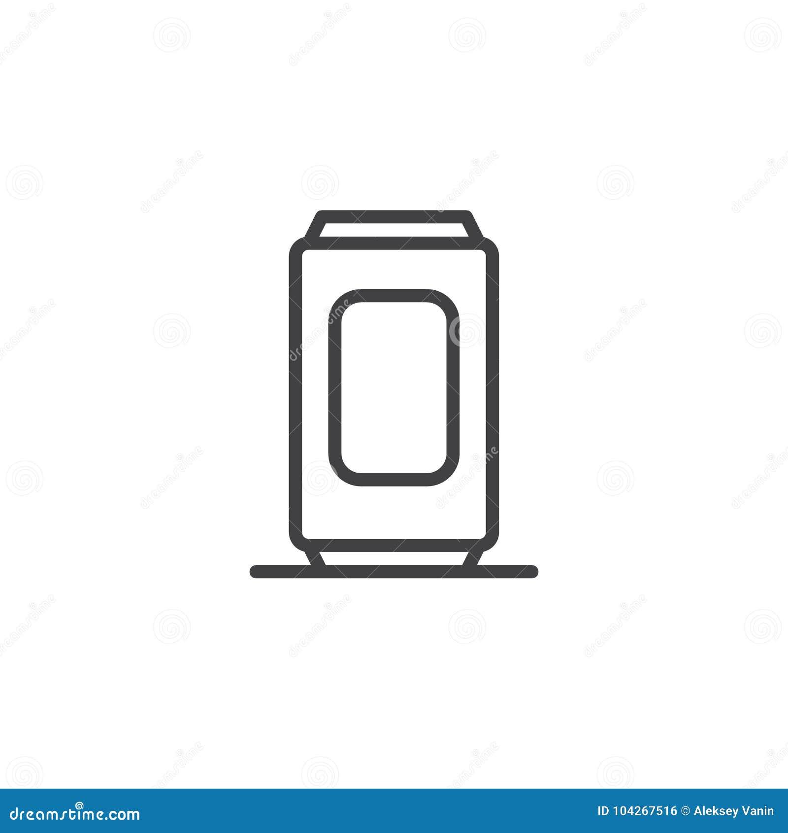 Ligne icône de canette de bière