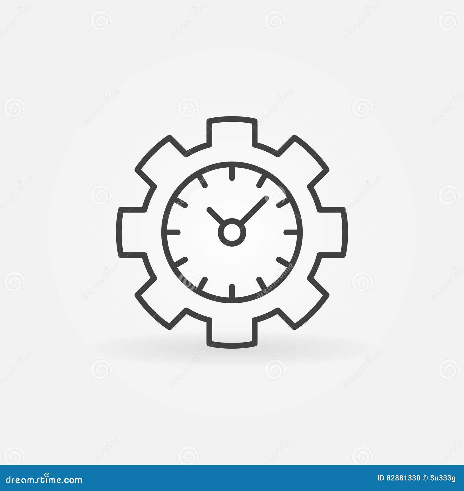 Ligne icône de gestion du temps
