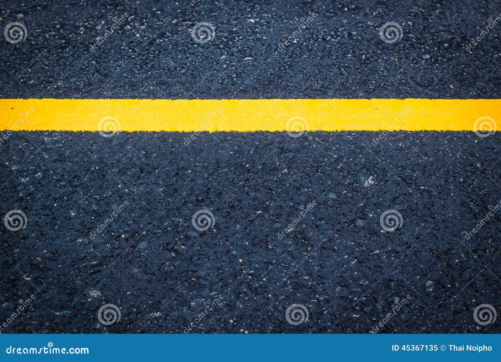Ligne jaune blanche de texture d asphalte