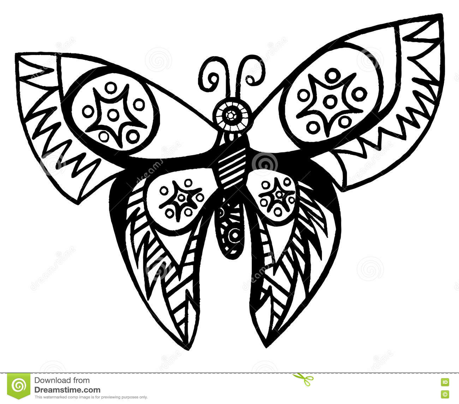 ligne noire papillon pour le tatouage livre de coloriage pour l adulte et enfant