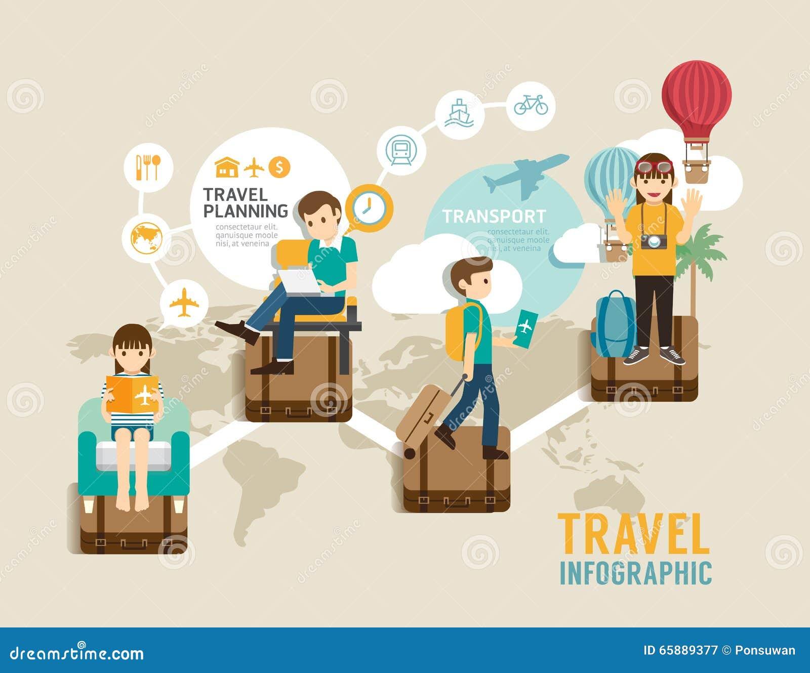 Ligne plate de jeu de société de voyage étape infographic de concept d icônes à l OE