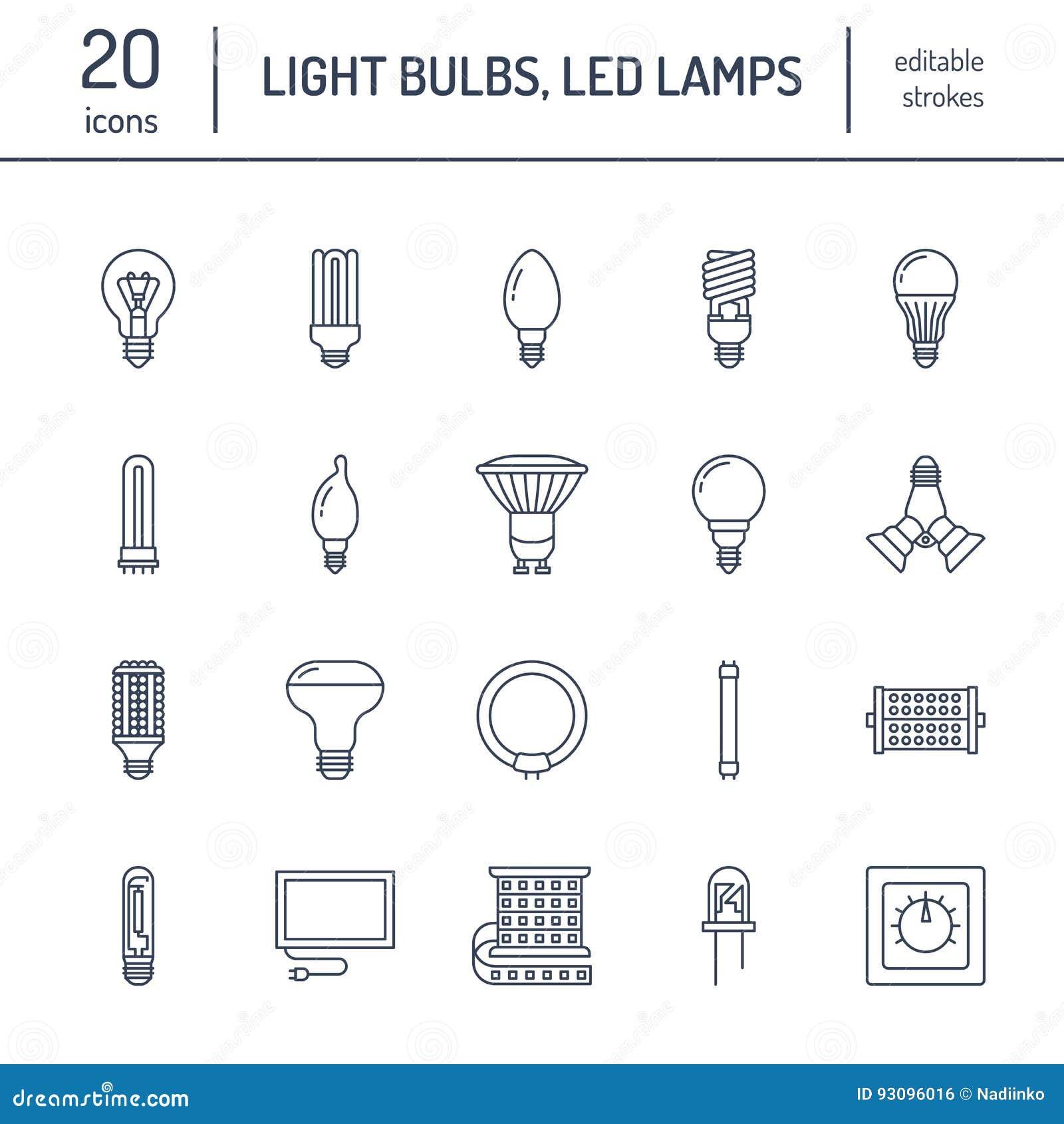 ligne plate ic nes d 39 ampoules types de lampes fluorescent men s filament halog ne diode et. Black Bedroom Furniture Sets. Home Design Ideas