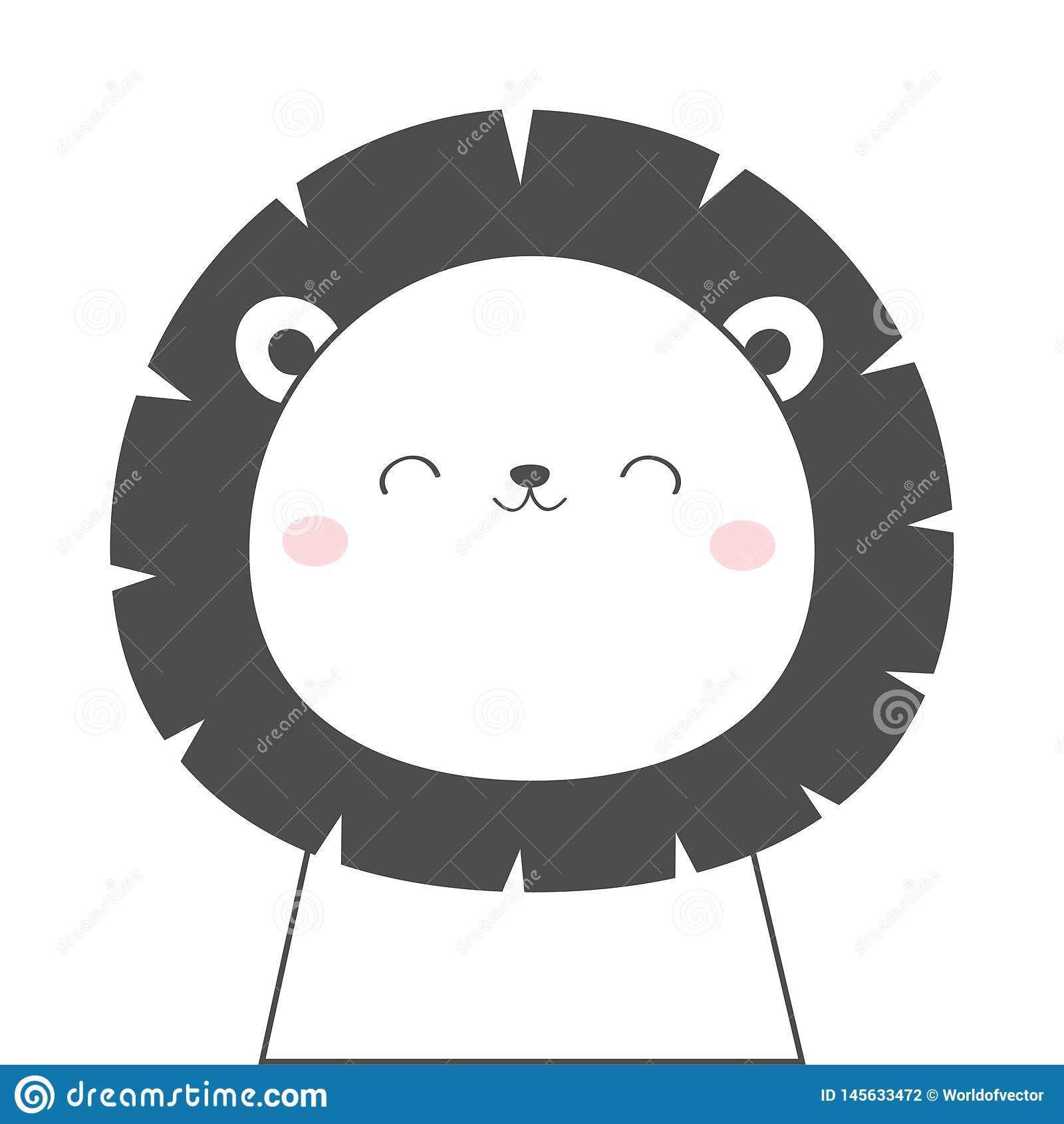 Ligne Principale Icône De Croquis De Visage De Lion Animal