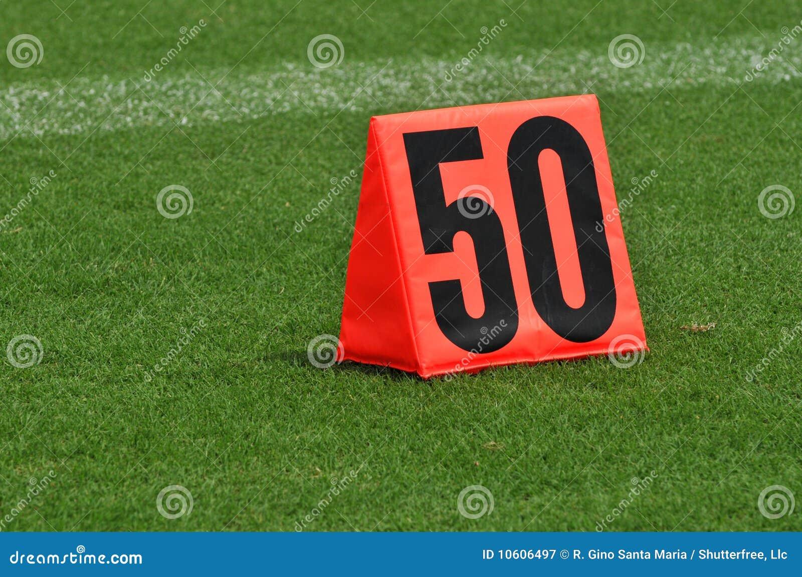 Ligne repère du yard cinquante