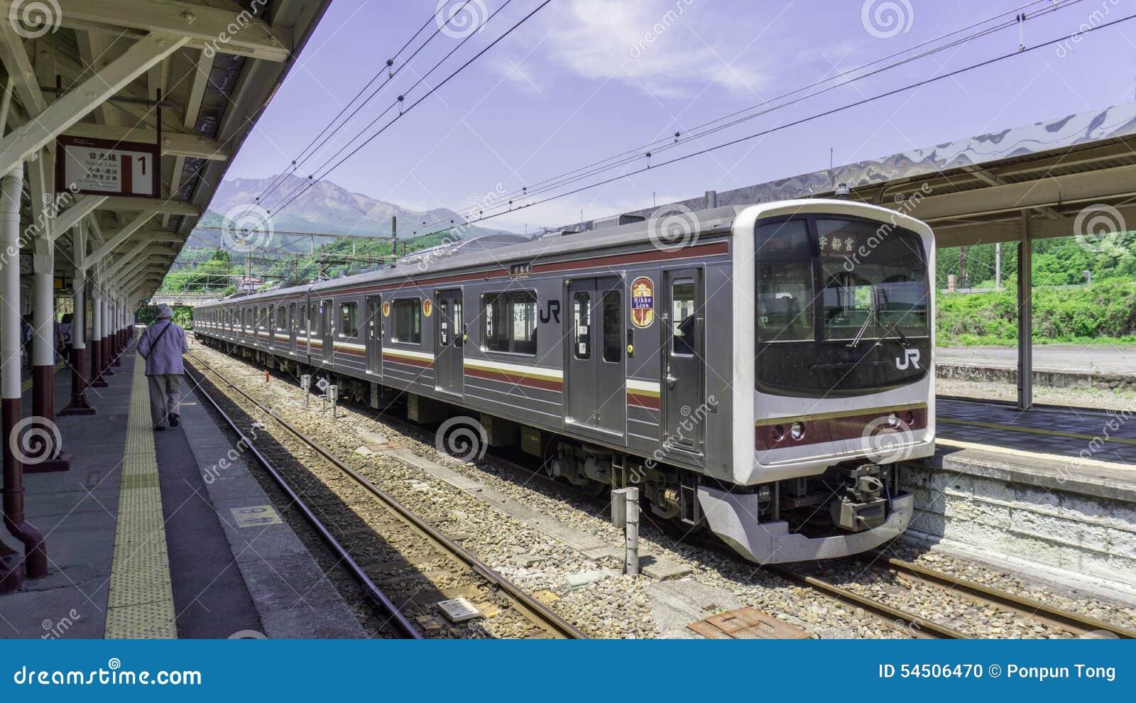Ligne train de Nikko de Japonais vers Nikko
