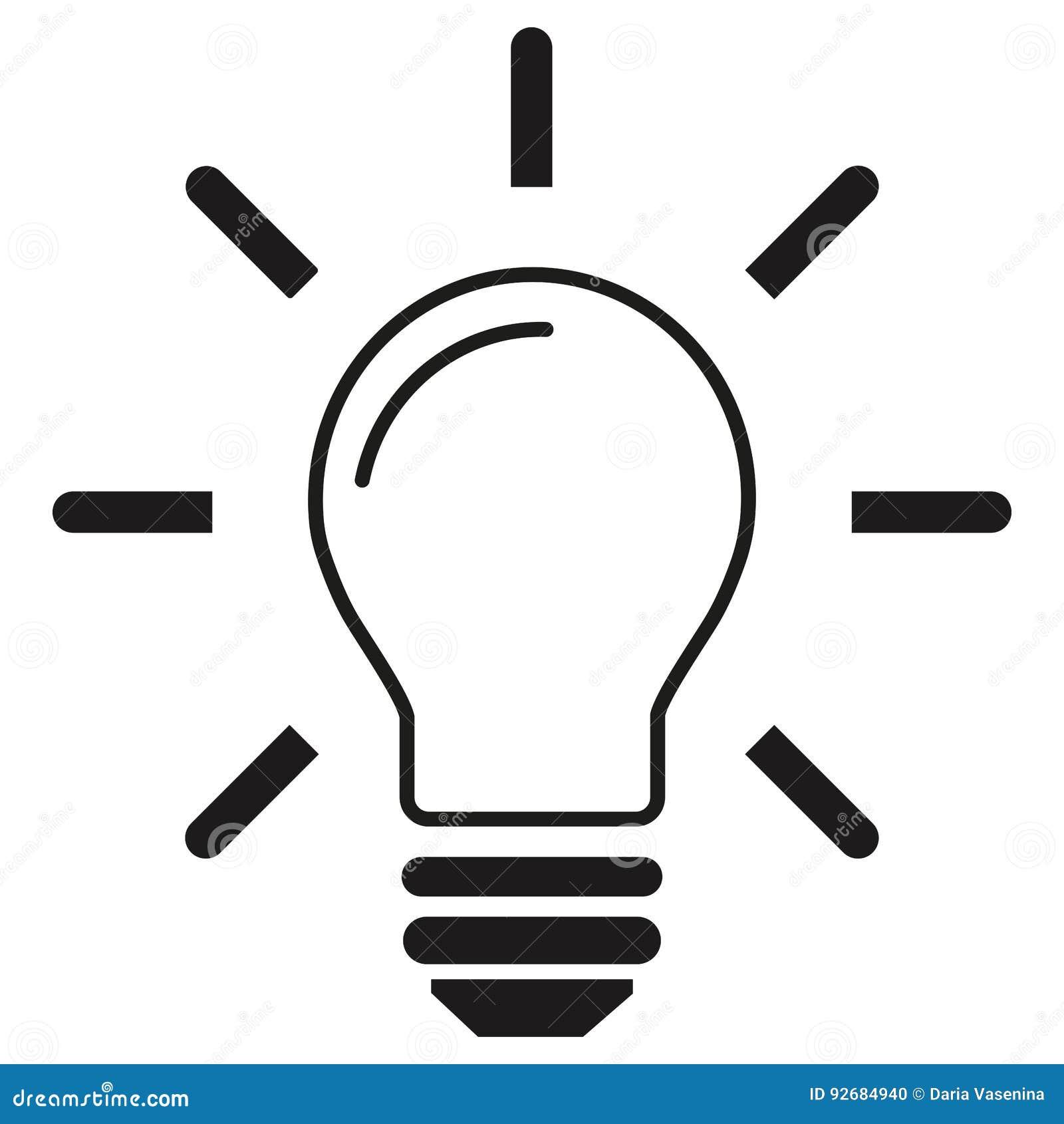 Ligne D'icôneD'isolement Le Blanc Vecteur D'ampoule Sur Fond kn0wOP