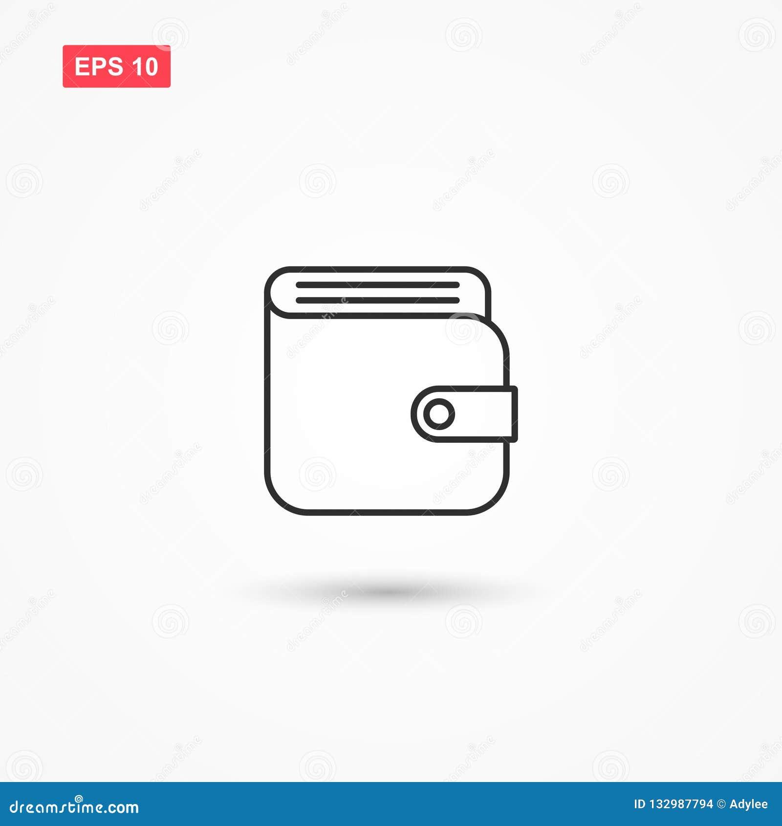 Ligne vecteur 2 de portefeuille d icône
