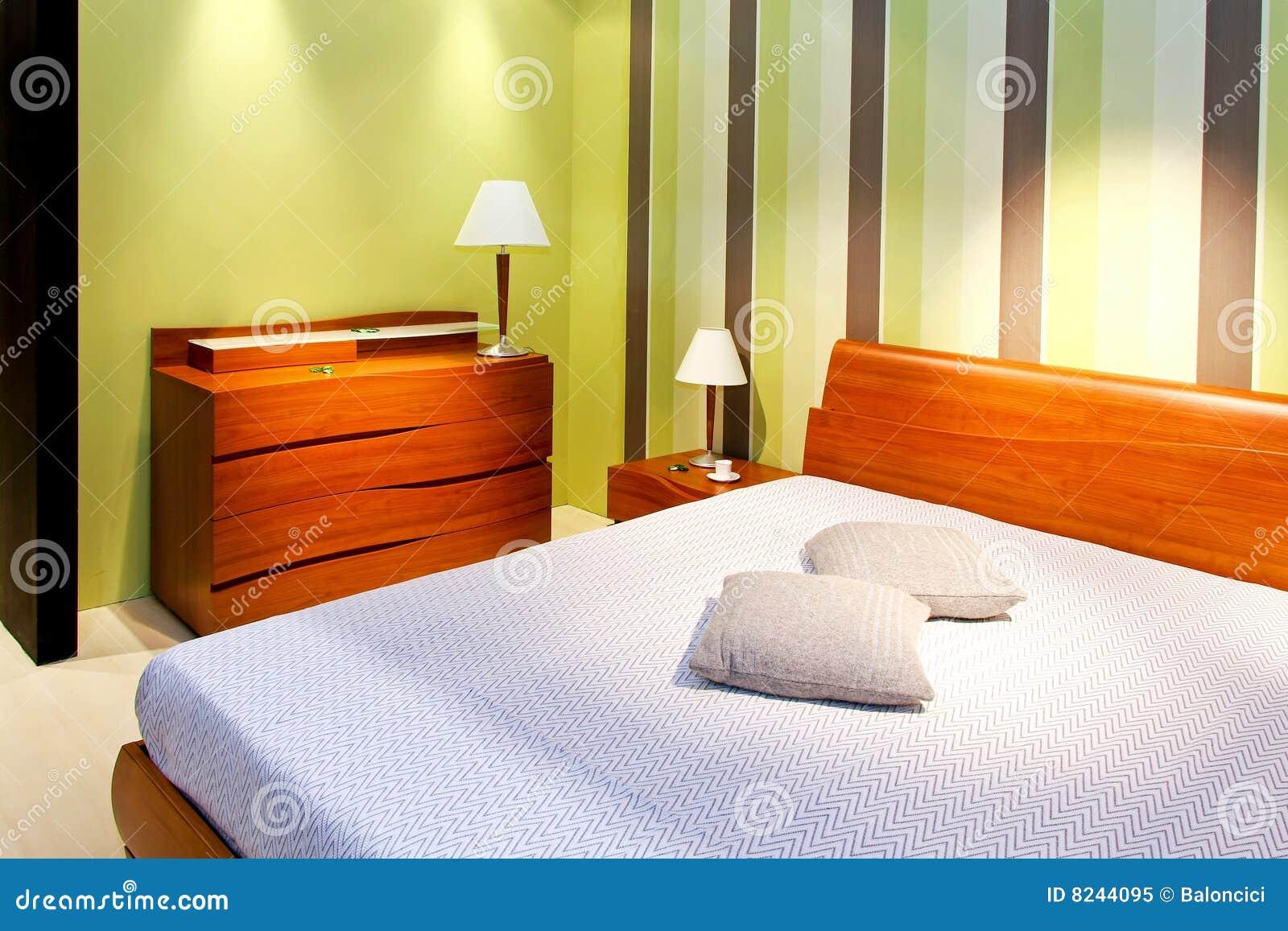Ligne verte de chambre coucher photo libre de droits for Chambre libre