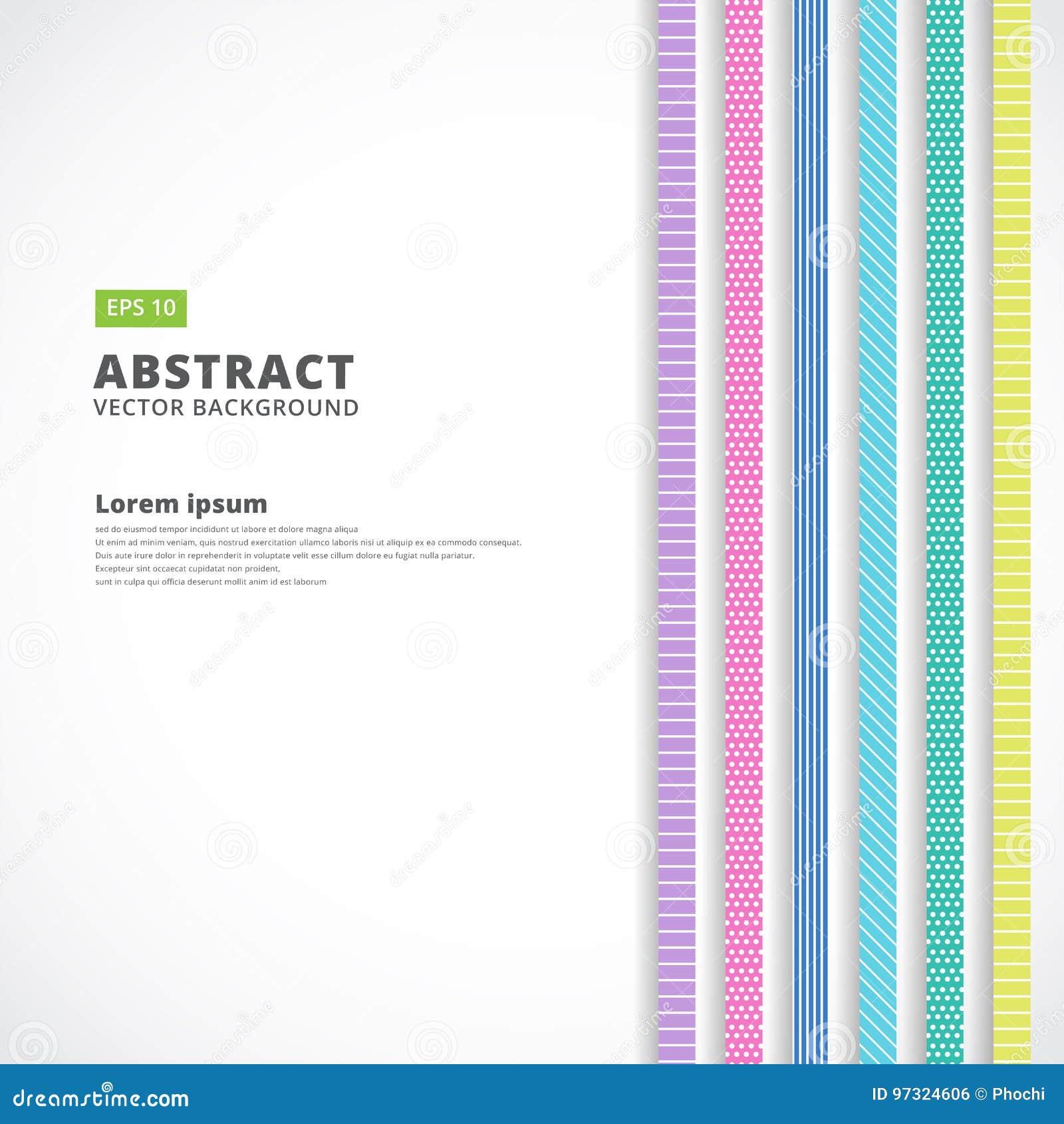 Ligne verticale abstraite couleur en pastel, rétro style, vecteur Illustr