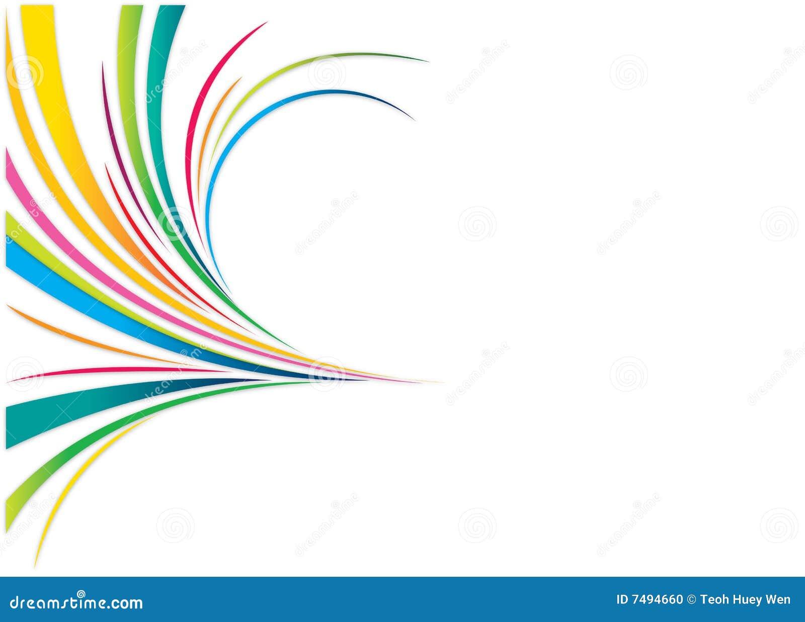 Lignes Abstraites Illustration De Vecteur. Illustration Du