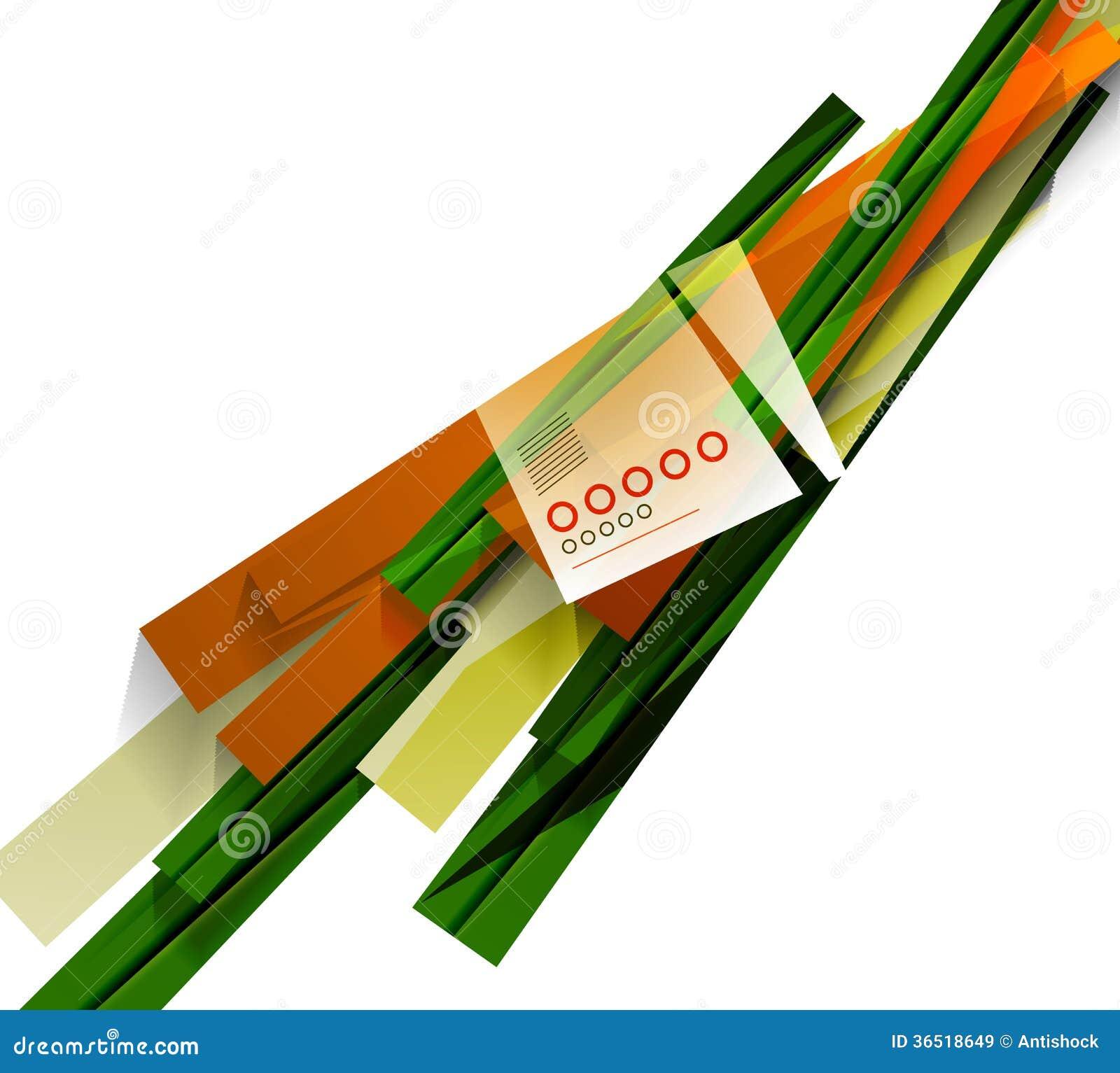 Lignes abstraites de formes géométriques colorées