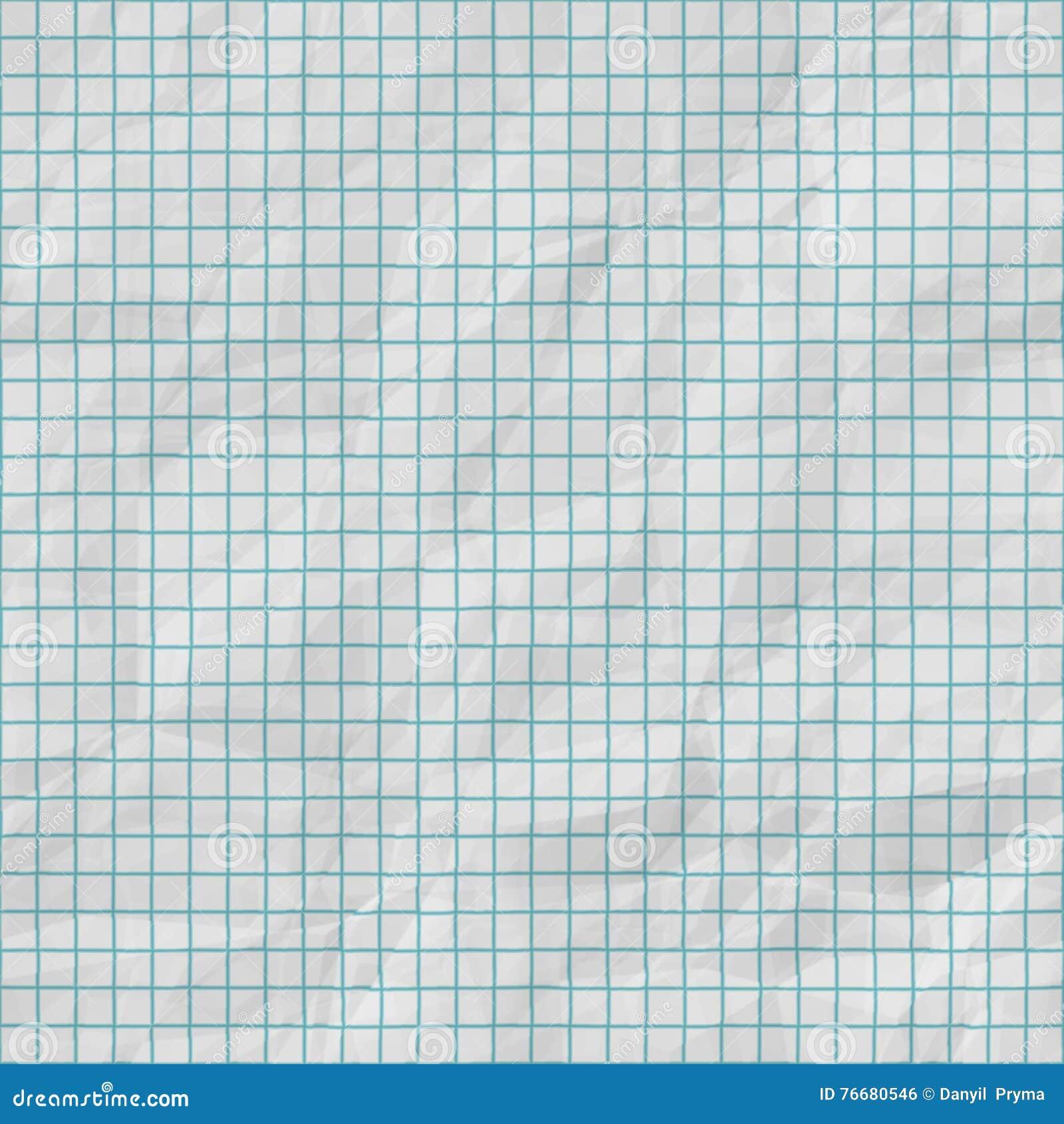 Lignes de grille sans couture de trame sur la texture de papier pliée