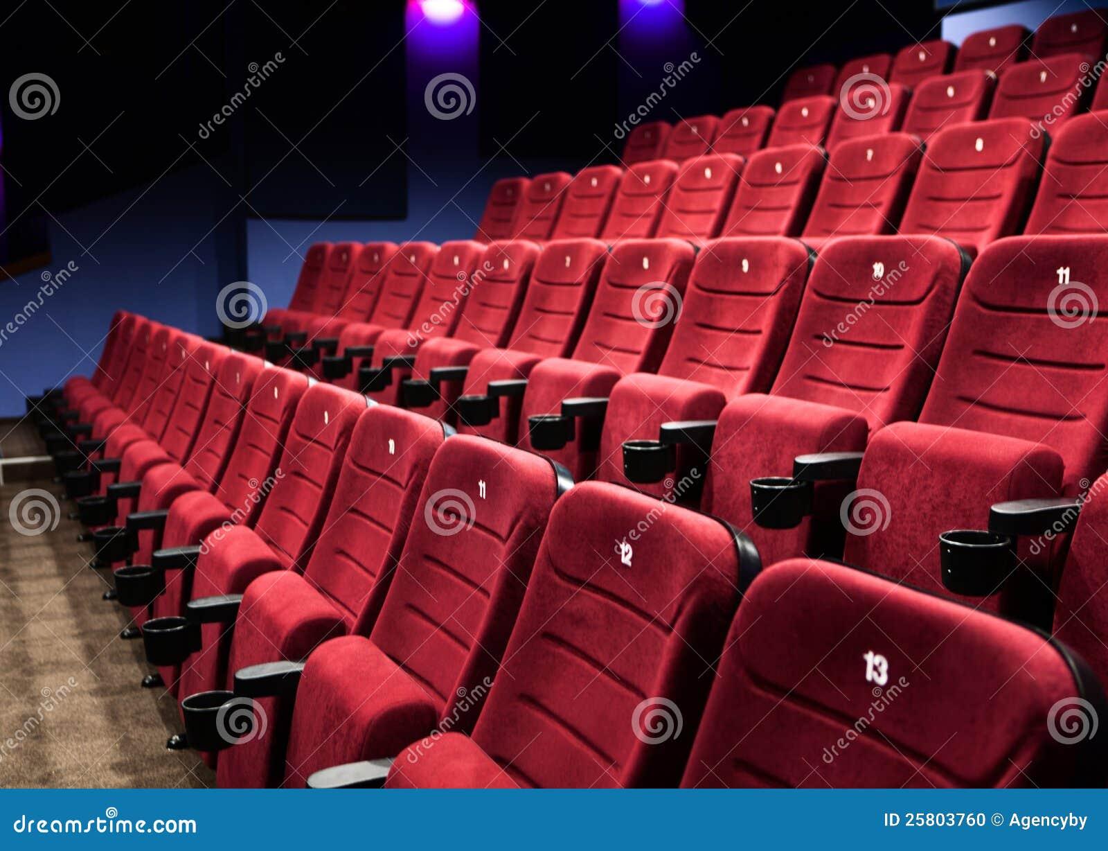 Lignes des sièges de cinéma