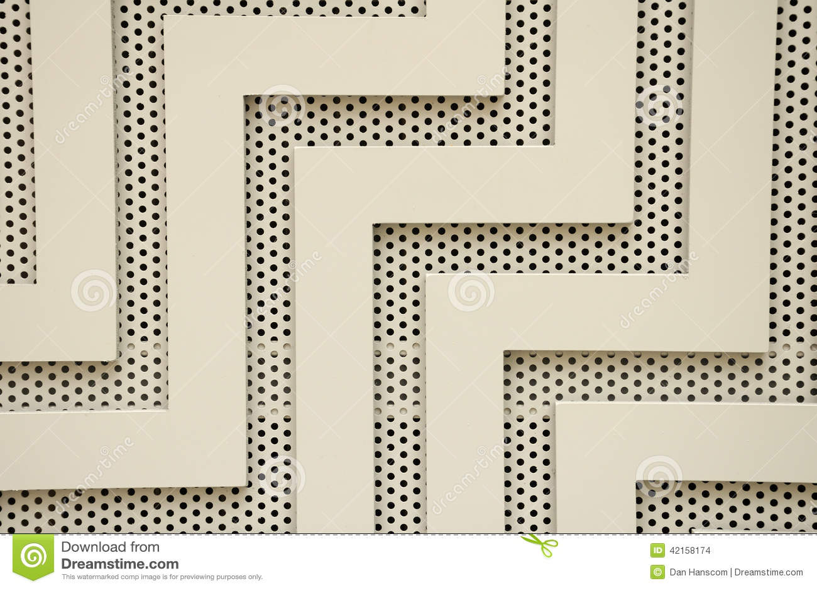 Lignes et trous abstraits