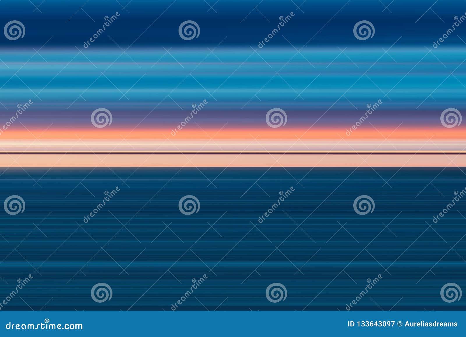 Lignes lumineuses abstraites colorées fond, texture rayée horizontale dans le rose et tons bleus