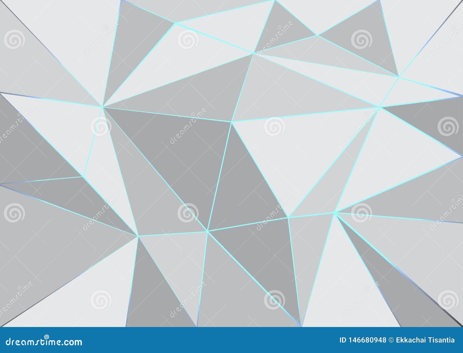 Lignes lumineuses et fond abstrait blanc et gris de couleur géométrique
