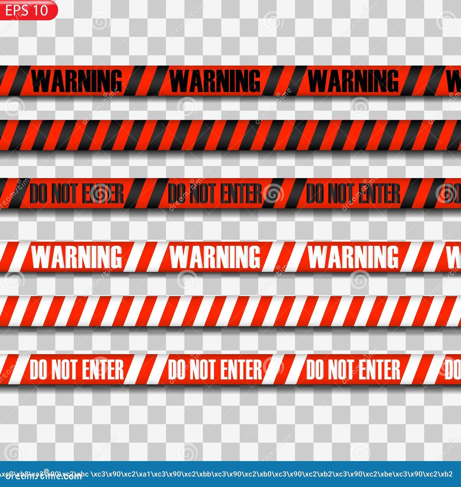 Lignes noires et rouges de précaution
