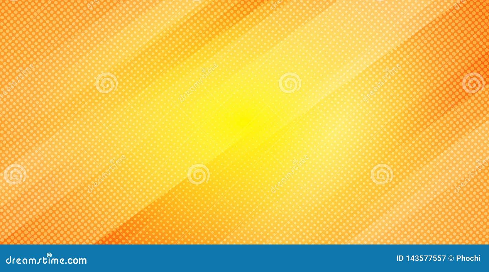 Lignes obliques abstraites fond de couleur jaune et orange de gradient de rayures et style tramé de texture de points Minimal géo